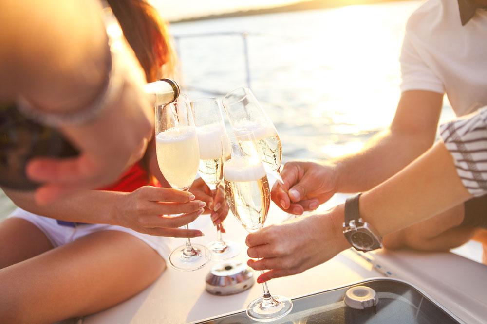 champagne, prosecco och cava